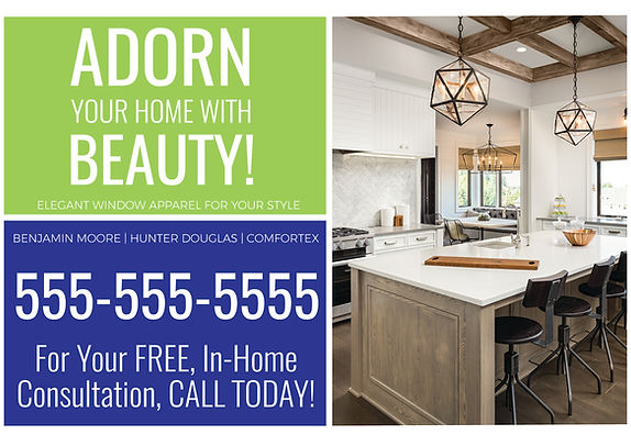 """Interior DesignPostcard """"Adorn Your Home With Beauty"""""""