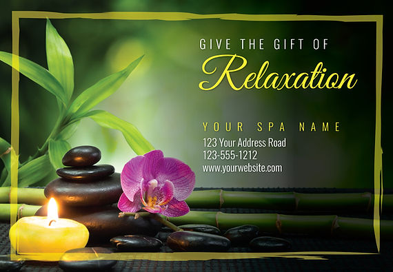 """Spa and Nail Salon Postcard """"Relaxation"""""""