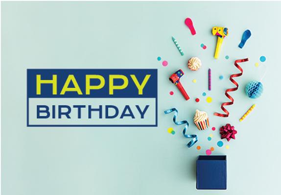 "Birthday Greeting Postcard ""Birthday Confetti"""
