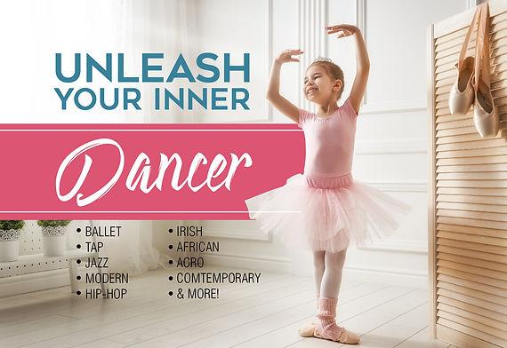 "Dance and Gymnastics Postcard ""Inner Dancer"""