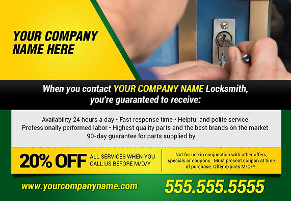 """LocksmithPostcard """"HIgh Quality and Best Brands"""""""