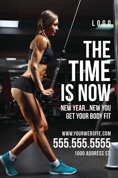 """Fitness Center and GymPostcard """"The Time Is Now"""""""