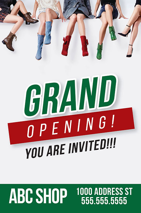 """Grand Opening Announcement Postcard """"You are Invited"""""""