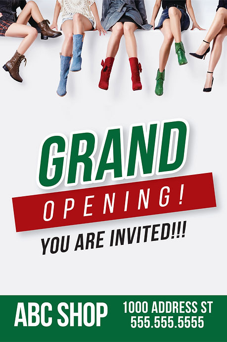 "Grand Opening Announcement Postcard ""You are Invited"""