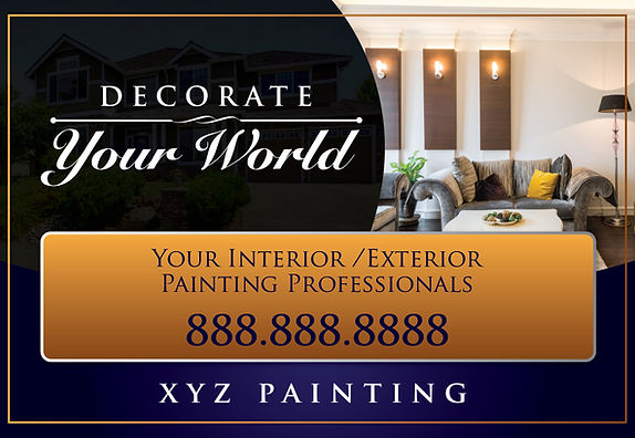 "Painter Postcard ""Decorate Your World"""