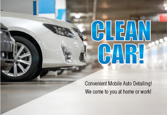 "Auto Detailing Postcard ""Clean Car"""