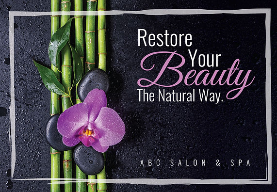 """Spa and Nail Salon Postcard """"Restore Your Beauty"""""""