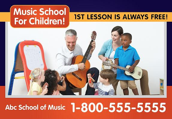 "Music School Postcard ""Music School for Children"""