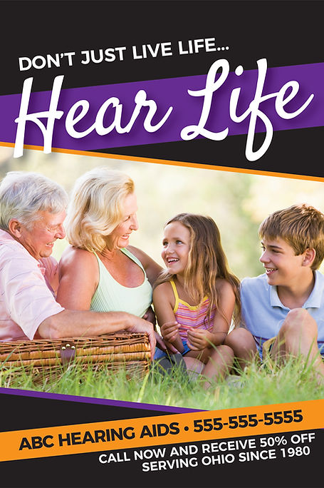 """Hearing Aid Specialist and Testing Center Postcard """"Hear Life"""""""