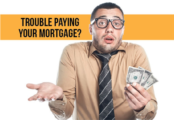 """Mortgage Agent and Company Postcard """"Trouble Paying Mortgage"""""""