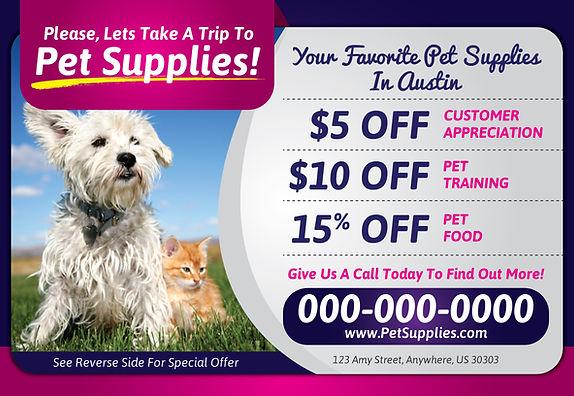 """Pet ShopPostcard """"Pet Supplies"""""""