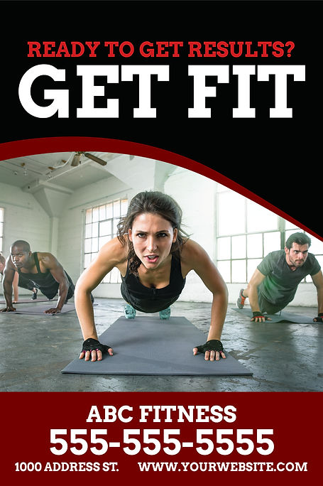"""Fitness Center and GymPostcard """"Get Fit"""""""