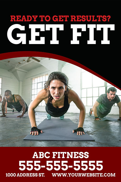 "Fitness Center and Gym Postcard ""Get Fit"""