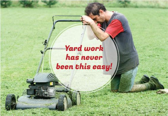 "LandscapingPostcard""Easy Yard Work"""