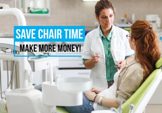 "Dental and DentistPostcard Postcard""Save Chair Time"""