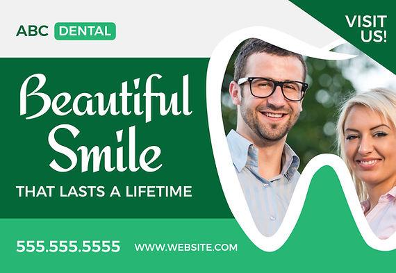 """Orthodontist Postcard""""Beautiful Smile"""""""