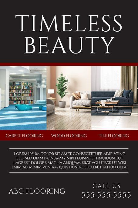 """Flooring,Tile Sellerand Installer Postcard """"Timeless Beauty"""""""