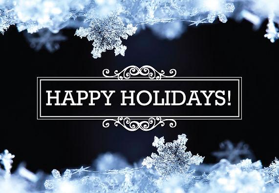 "Holiday Card and Greeting Postcard ""Happy Holidays"""