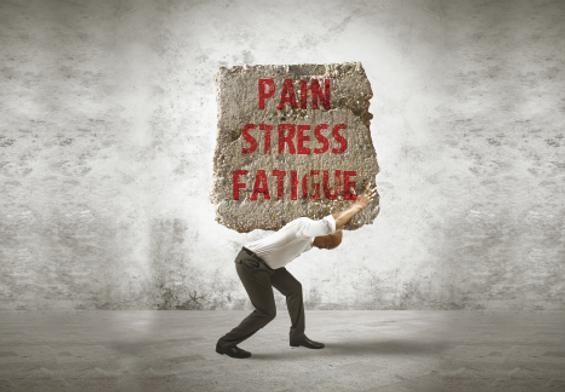 "Chiropractor Postcard""Pain, Stress, Fatigue"""