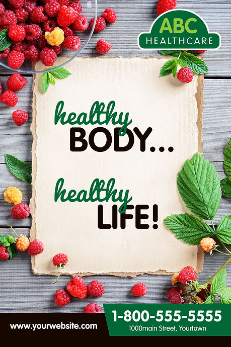 "Medical Practice Postcard ""Healthy Body, Healthy Life"""