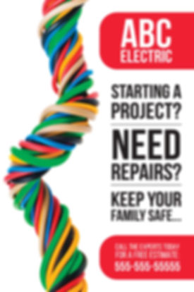 "Electrician and Electrical Contractor Postcard ""Starting a Repair Project"""