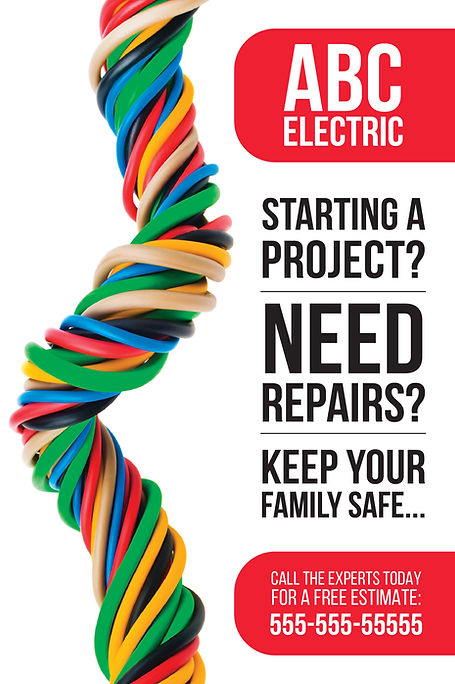 """Electrician and Electrical ContractorPostcard """"Starting a Repair Project"""""""
