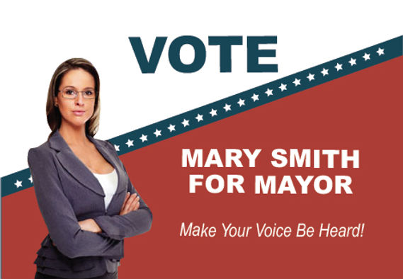 """Political and Election Mail Postcard """"Make Your Voice Be Heard"""""""