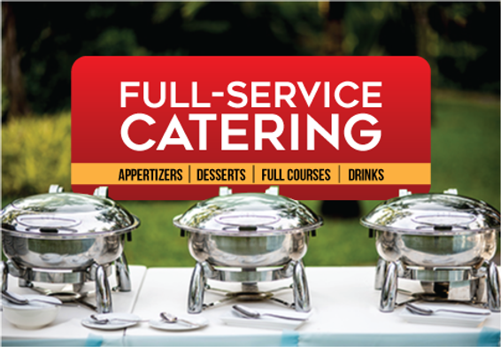 """Catering and Home Chef Postcard""""Full Service Catering"""""""