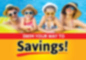 "Pool and Spa Postcard ""Swim Your Way To Savings"""