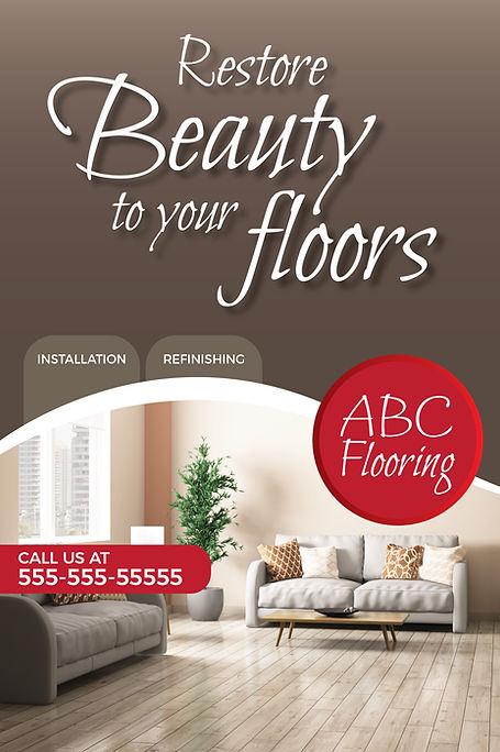 "Flooring,Tile Sellerand Installer Postcard ""Restore Beauty To Your Floors"""