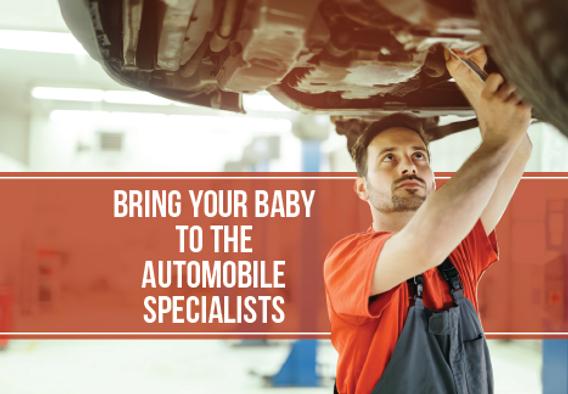 """Auto Sales Postcard """"Bring your Baby"""""""