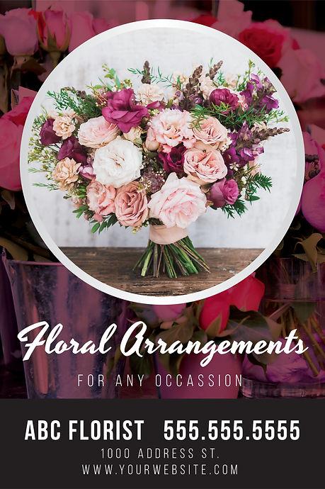 """Florist Postcard""""Floral Arrangements"""""""