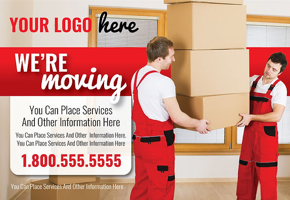 "Mover Postcard ""We're Moving"""