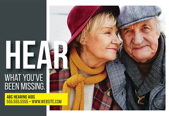 """Hearing Aid Specialist and Testing Center Postcard """"What You've Been Missing"""""""