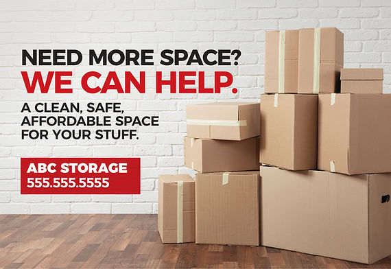 """Moving and Storage Postcard """"We Can Help"""""""