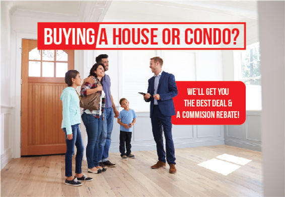 """Real Estate Agent Postcard """"Best Deal and A Commission Rebate"""""""