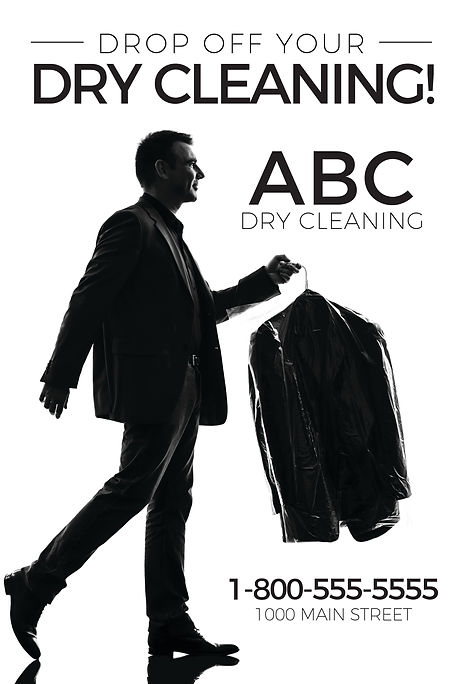 """Dry CleaningPostcard""""Drop Off Your Dry Cleaning"""""""
