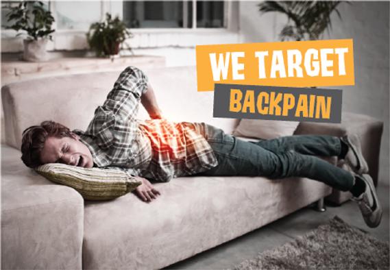 "ChiropractorPostcard ""We Target Back Pain"""