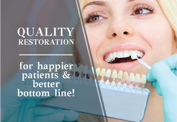 "Dental and DentistPostcard ""Quality Restoration"""