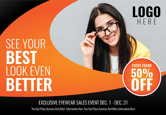 "Optometry/Optometrist Postcard ""See Your Best, Look Even Better"""