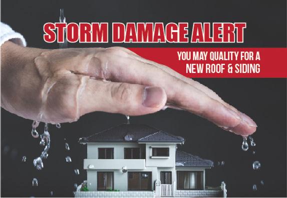 "Roofing Installer and Roofing Repair Postcard ""Storm Damage Alert"""