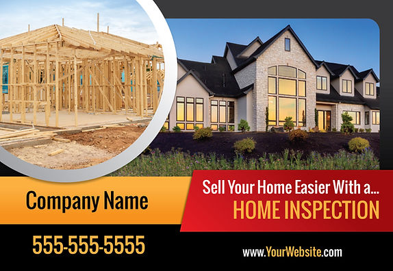 """Home Inspection Postcard""""Sell Your Home Easier"""""""