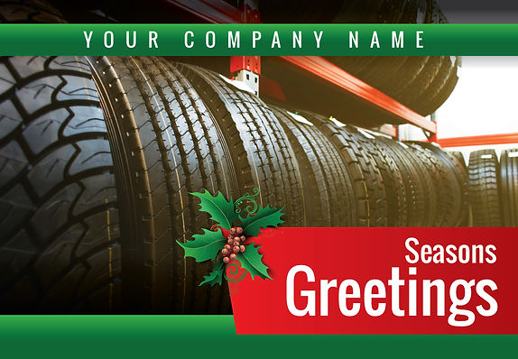 "Tire Shop Postcard ""Seasons Greetings"""