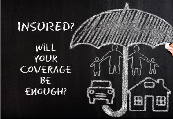 """Insurance Agency and AgentPostcard """"WillYour Coverage Be Enough?"""""""