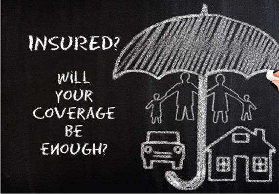 "Insurance Agency and Agent Postcard ""Will Your Coverage Be Enough?"""