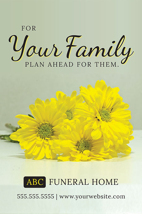"""Funeral Homeand Center Postcard """"Plan Ahead"""""""