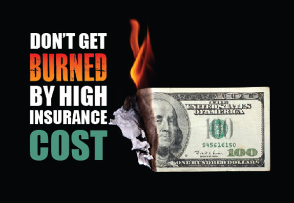 "Insurance Agency and Agent Postcard ""Don't Get Burned"""