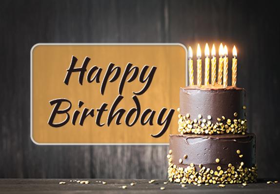 "Birthday Greeting Postcard ""Birthday Cake"""