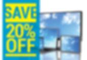 """Retail Shop Postcard """"20% OFF"""
