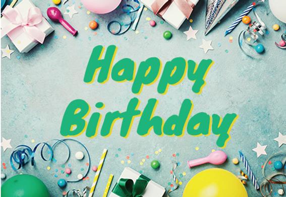 "Birthday Greeting Postcard""Birthday Goodies"""